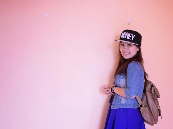 Outfit diary: Blue skater skirt