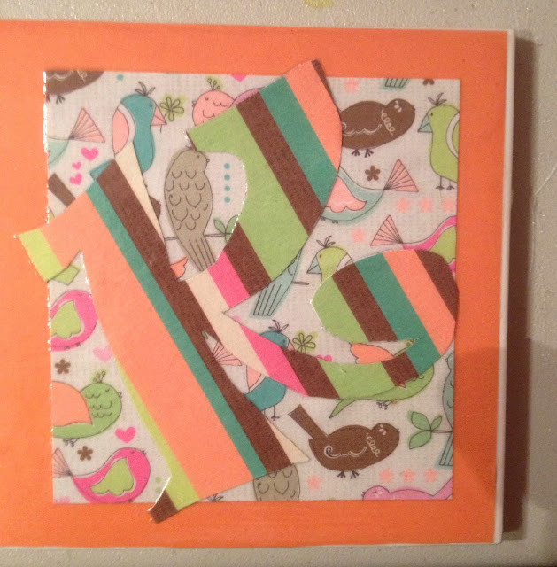 Coaster design with scrapbook paper layers