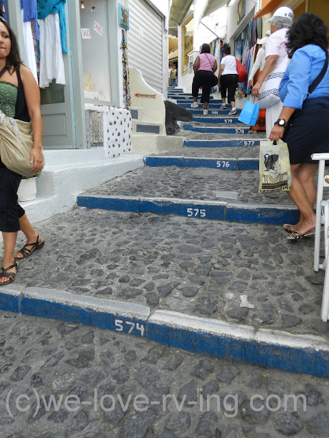 The steps that lead up through Fira are numbered, showing #574 plus.