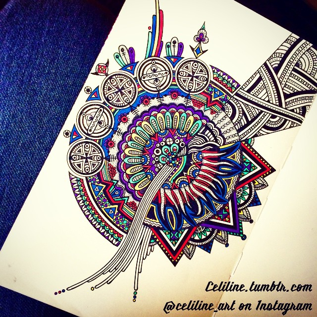 06-Celiline-Hand-Drawn-Zentangle-Doodles-Illustrations-Drawings-www-designstack-co