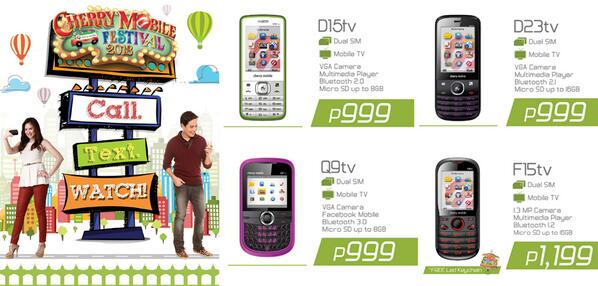 TV Phones from Cherry Mobile for Affordable Price – D15TV, D23TV