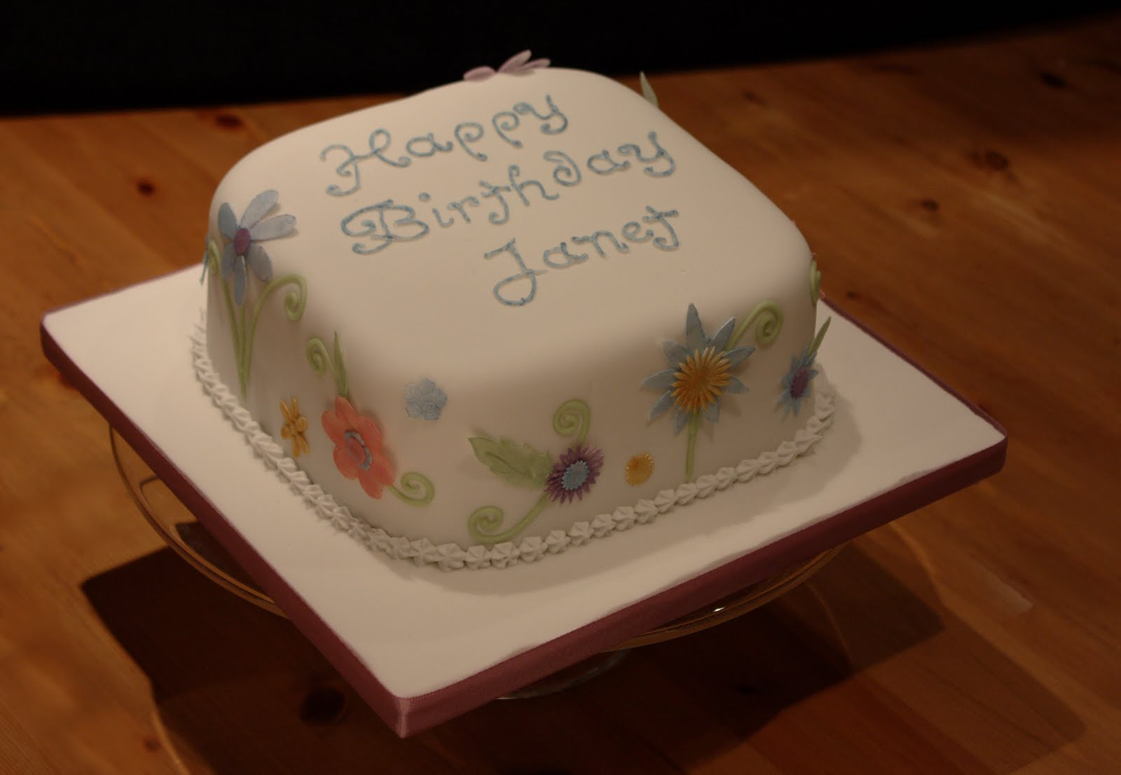 Vanilla fantasy flowers birthday cake its only a quick little one but i do love the fantasy flower cutters theyre from patchwork ive used them loads but this is the first time ive used izmirmasajfo