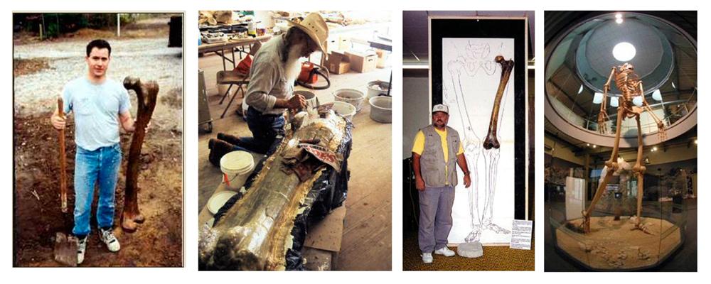 Fotos de achados arqueológicos de gigantes