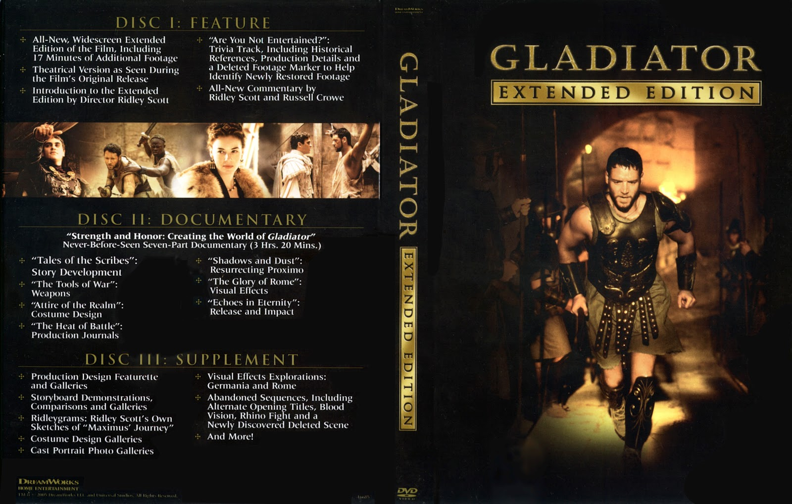 Gladiator Movie Dvd Front Cover