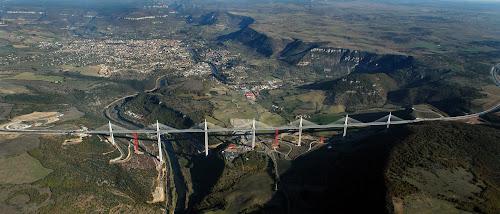 Mais alto viaduto do mundo, vista aérea