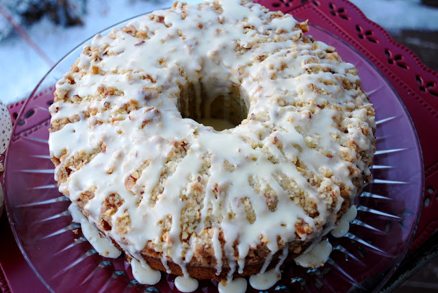 Almond Poppyseed Cake with Almond Streusel