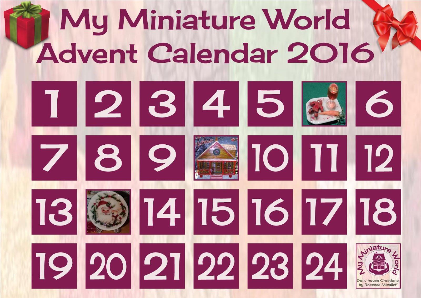 CALENDARIO DE ADVIENTO DE MY MINIATURE WORLD