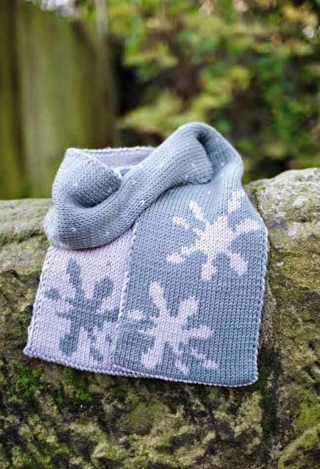 Wetland scarf pattern by Katya Frankel
