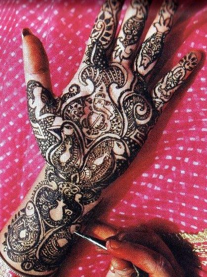 Mehndi For God : My maharashtra bridal mehndi design of lord ganesha