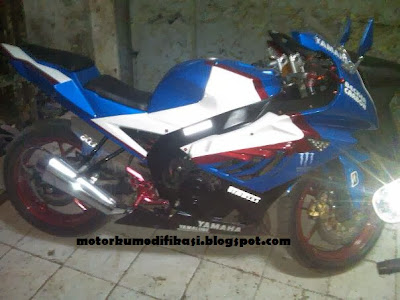 Modif Yamaha Byson Biru