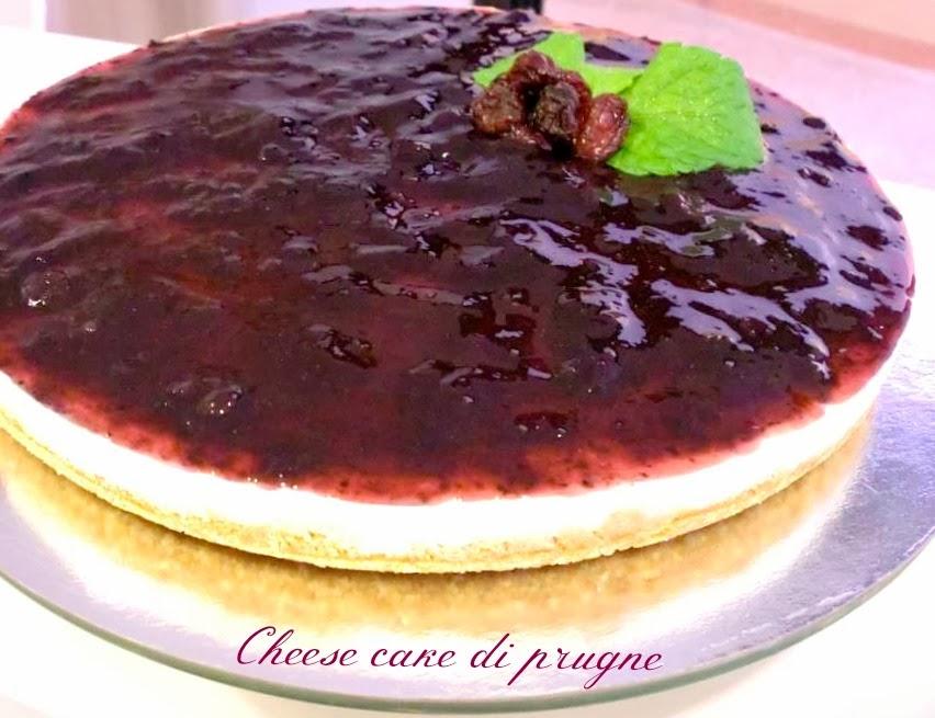 cheesecake di prugne (senza cottura)