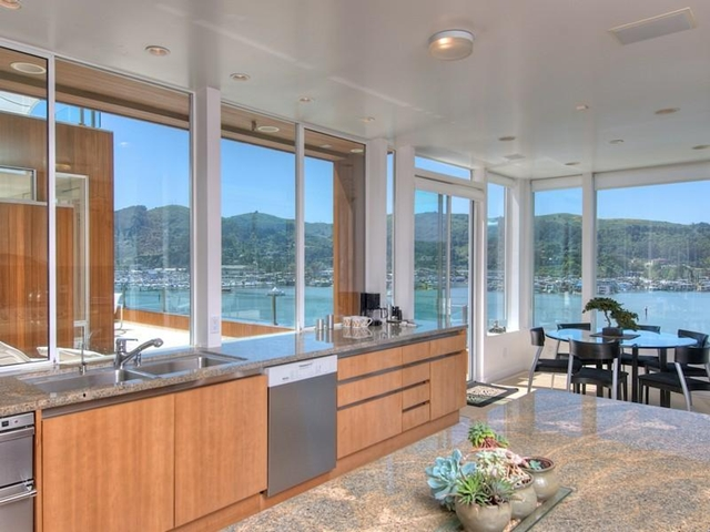 Photo of modern kitchen and dinning room
