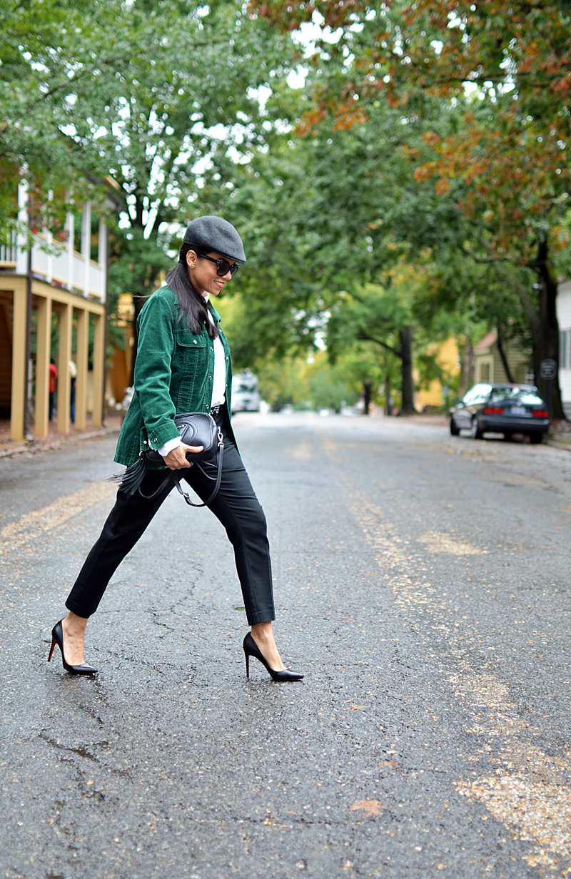 Blogger with tomboy style
