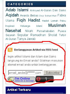 Cara Berlangganan Artikel Dari Artikelislami.Com