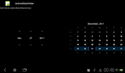 Honeycomb's tap look of DatePicker