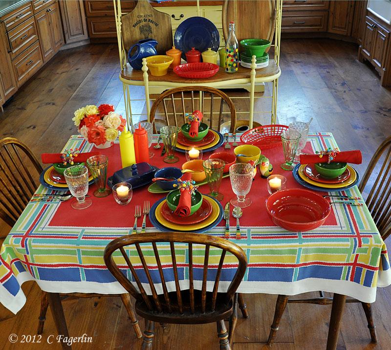 Table: Fiesta Ware