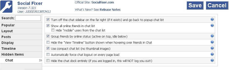 social fixer chat tab