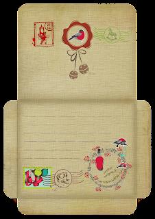 Новогодние конверты. Винтажные конверты. Скрапбукинг.