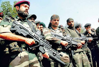 Indian Army PARA SF troops with Tavor rifles