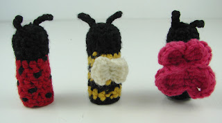 crochet garden critters bugs animals ladybug bumble bee butterfly