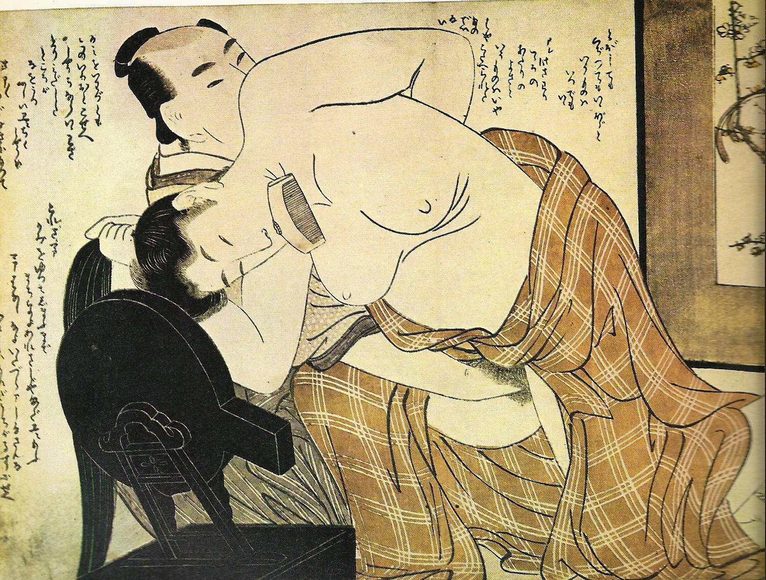 Японская эротическая гравюра 13 фотография