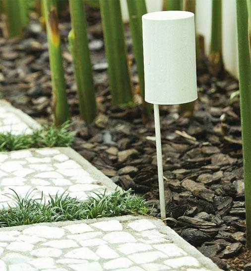 plantas jardim sombra:Jardim cheio de sombra com plantas de diferentes tons de verde