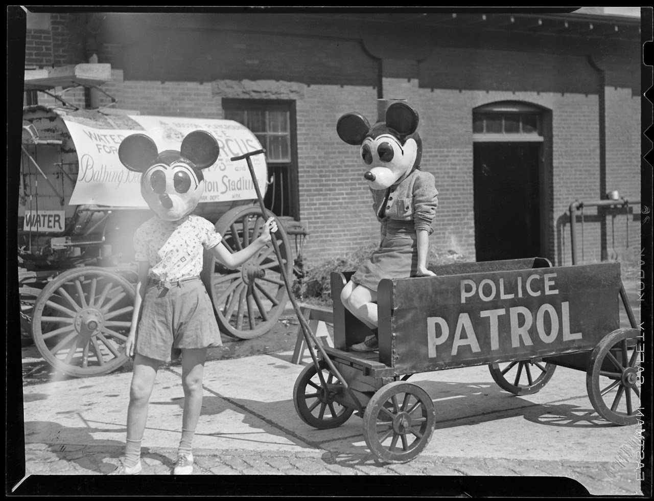 A couple of Mickeys, ca. 1940 ~ vintage everyday
