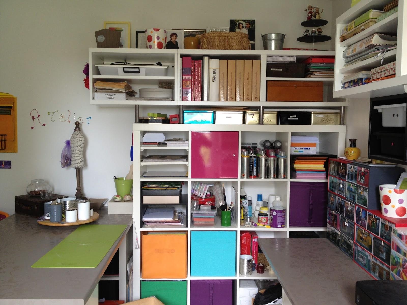 Les diy de suzan mon atelier bureau - Organisation placard cuisine ...