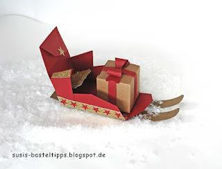 Schlitten mit stanze Umschlag für geschenkkarte für Big Shot von Stampin Up weihnachtsgeschenk