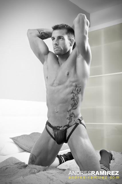 Sexy David Chamero in Gregg Homme underwear