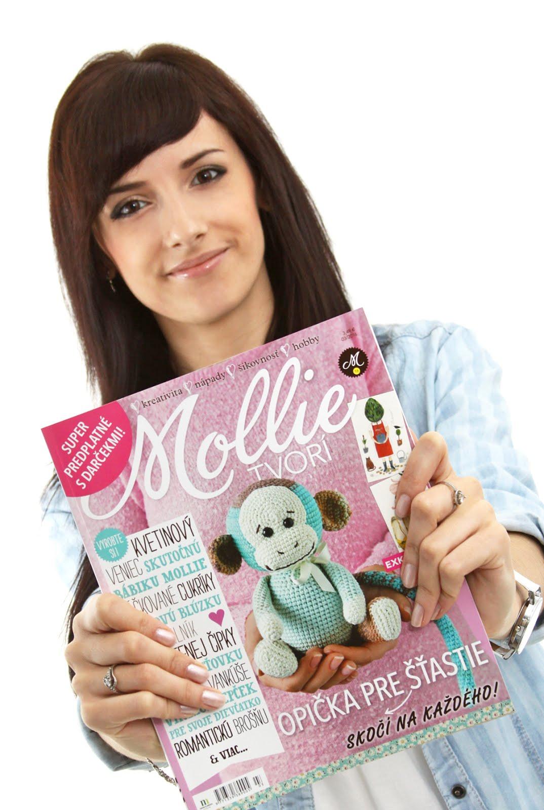 """V čísle 03/2016 Mollie Tvorí nájdete môj článok pod názvom """"Moje zlatíčko 3 v 1"""""""