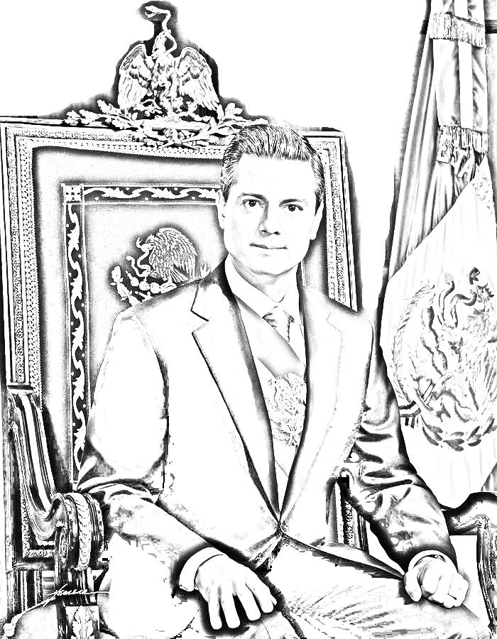 Enrique Peña Nieto para colorear
