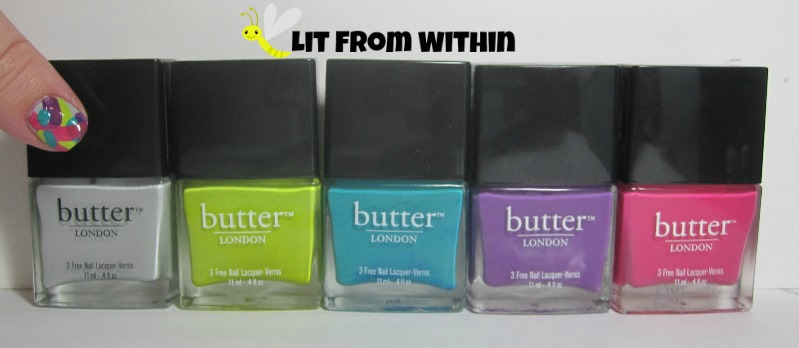 My Butter London babies:  Billy No Mates, Squatter, Slapper, Brummie, and Primrose Hill Picnic