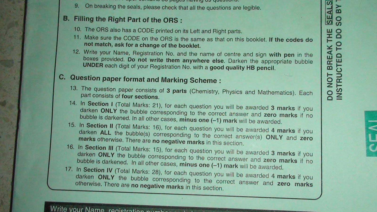 Iit jee 2011 question paper format blueprint marks negetive malvernweather