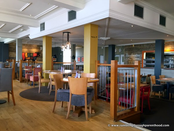 Spacious interiors at Quay House Beefeater Grill and Restaurant