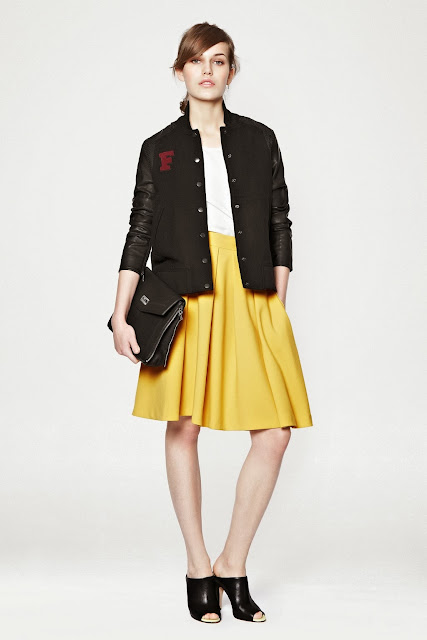french connection yellow skirt