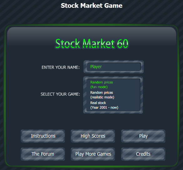 stock market game essay Investwrite topic for grades 9-12 you've researched many companies during your stock market game classroom experience only the body of the essay will be.