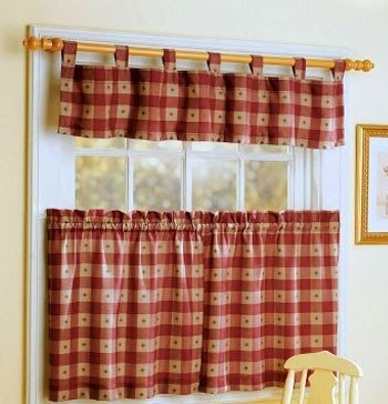 Dise o y decoraci n de la casa novedosas cortinas para la - Ideas cortinas cocina ...