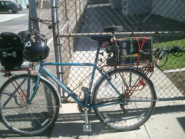 Bike mounted welding rig