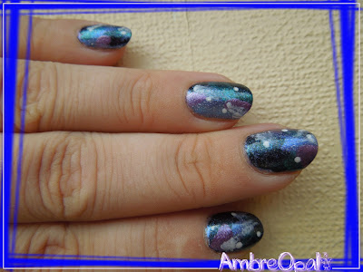 galaxy nail colorée