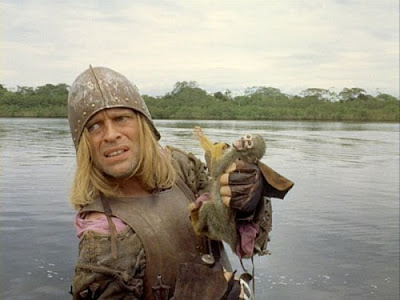 Klaus Kinski as Spanish commander Don Lope de Aguirre in Aguirre: The Wrath of God (1972), Directed by German filmmaker Werner Herzog