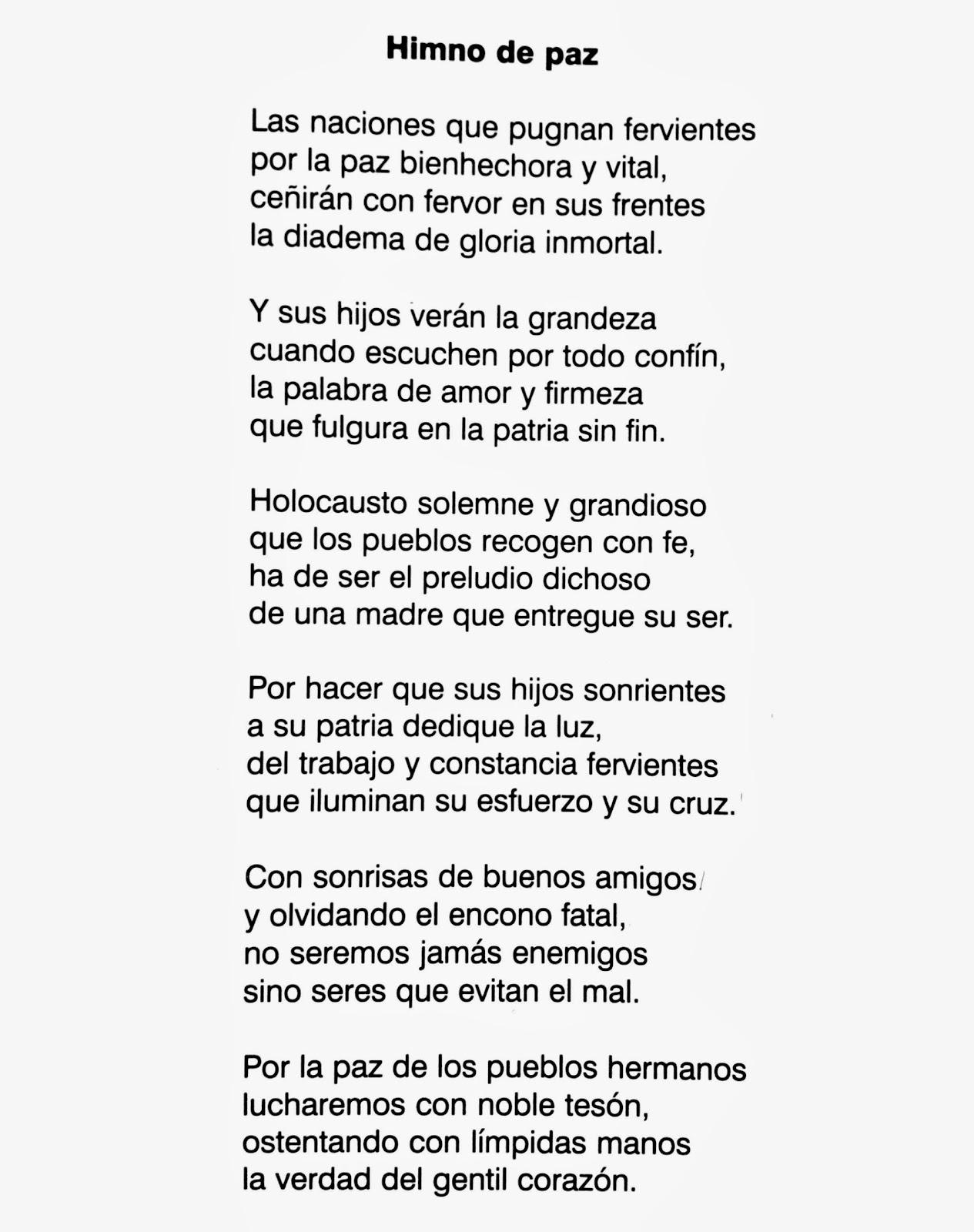 Poesía a la Paz - Himno a la paz