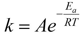 Resultado de imagem para equação de arrhenius