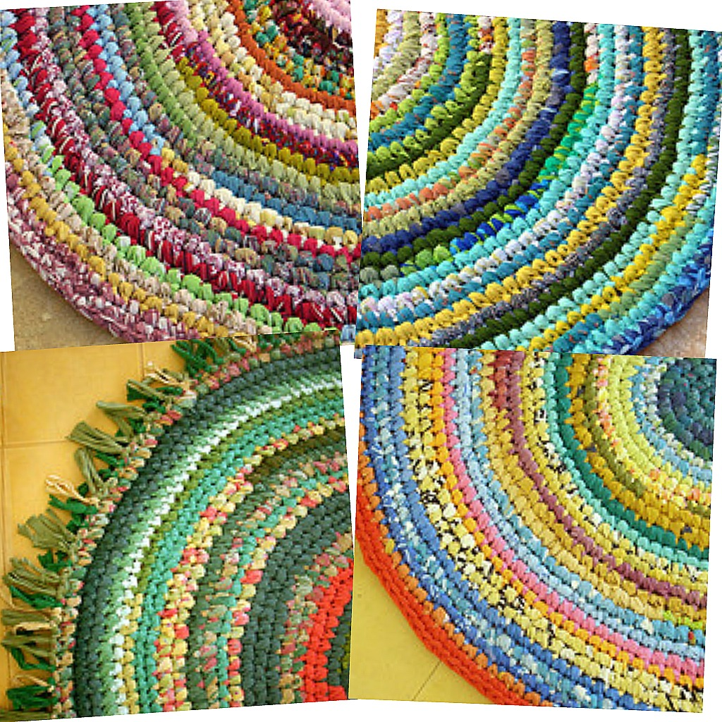 have never crocheted a rag rug, but now I am extremely tempted. Most ...