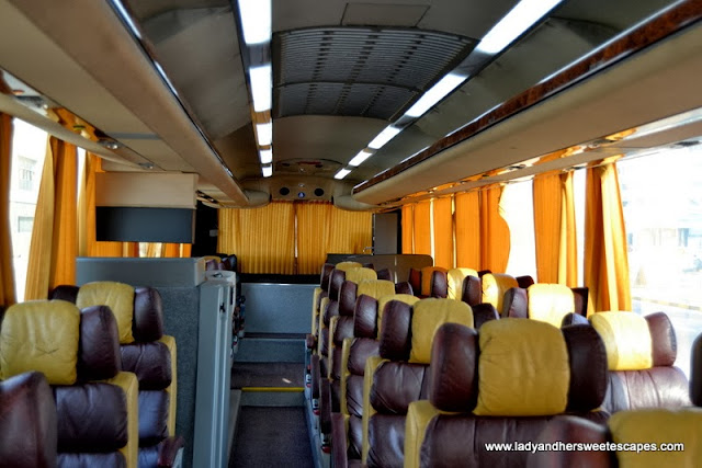 inside Dubai-Fujairah intercity bus