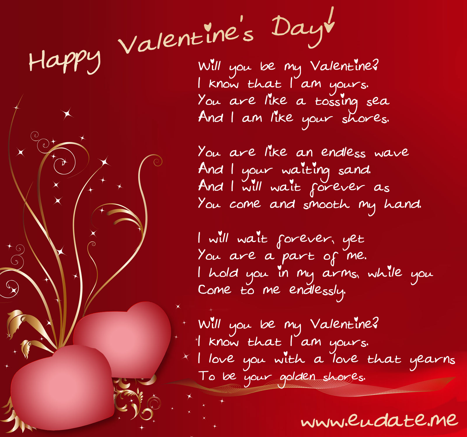 Happy valentines day valentine card for Love quotes for card