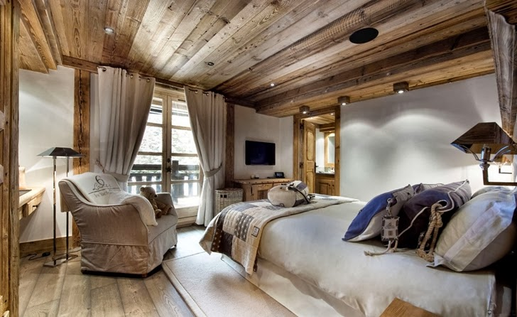 warm bedroom in ski resort