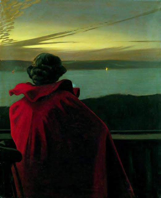 Harald Slott-Møller: Sankt Hans aften ved Vejle Fjord