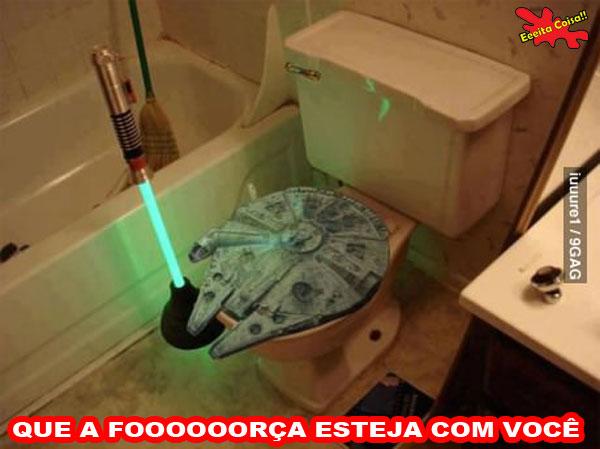 banheiro, star wars, jedi, sabre de luz, milenium falcon, eeeita coisa