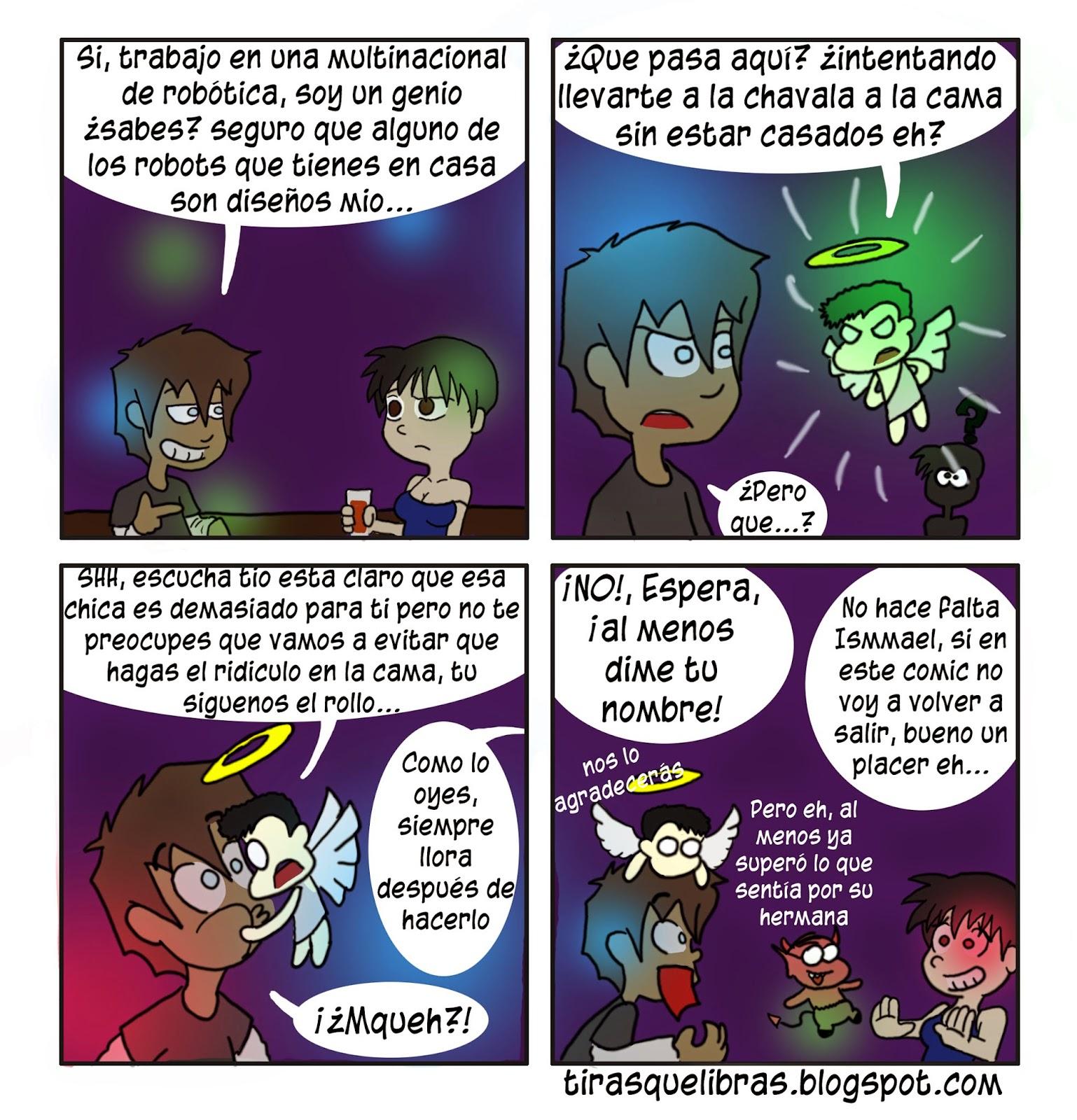 webcomic ye lo que hay, el angelito conoce a Ismmael